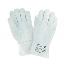 0222 Перчатки из цельного спилка КРС, 1,2 +/-0,1 мм, сорта АВ, пятипалые, 275 мм. EN 388 3143